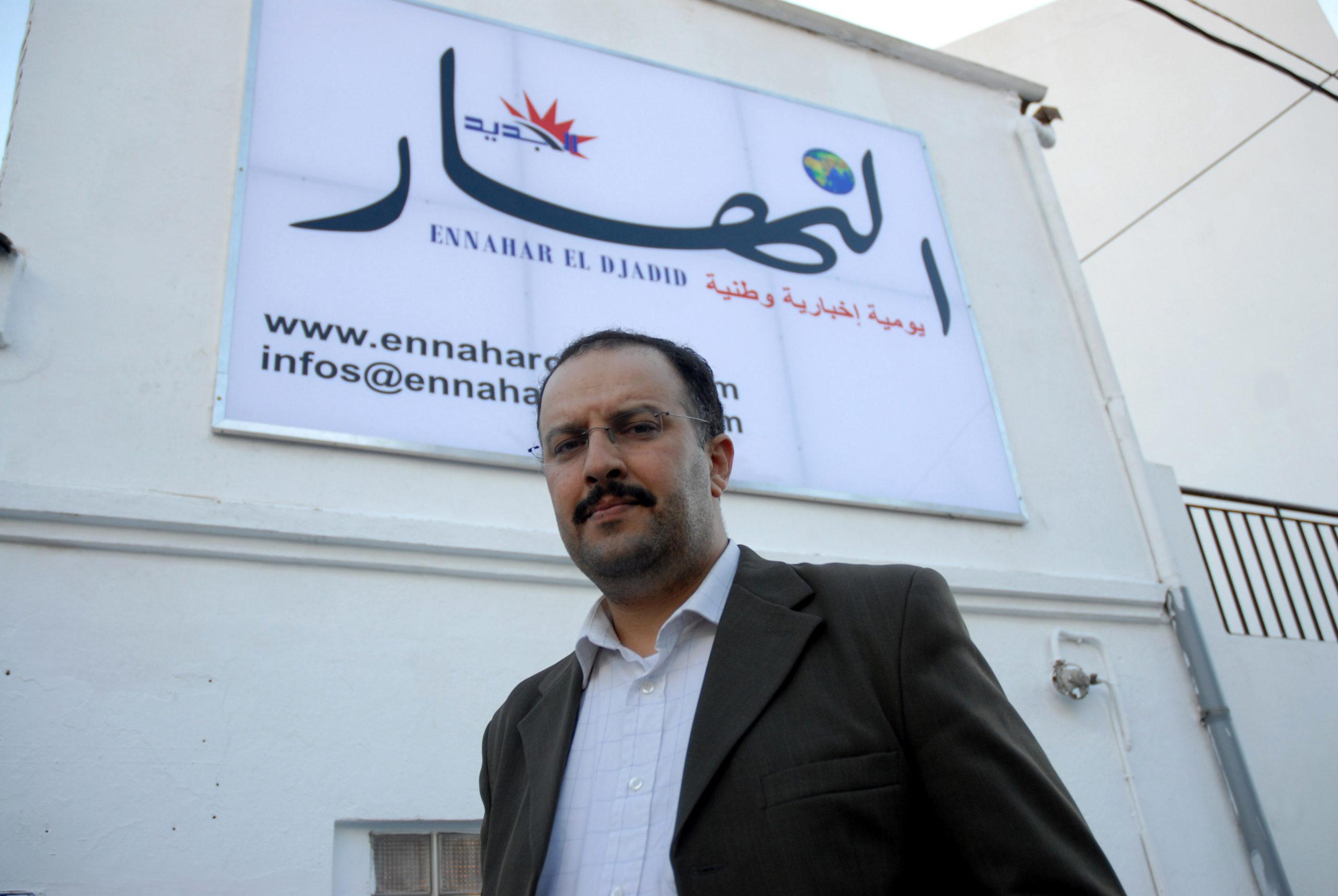 Le directeur d'Ennahar Anis Rahmani à Alger en 2007 | Photo: Samir Sid.