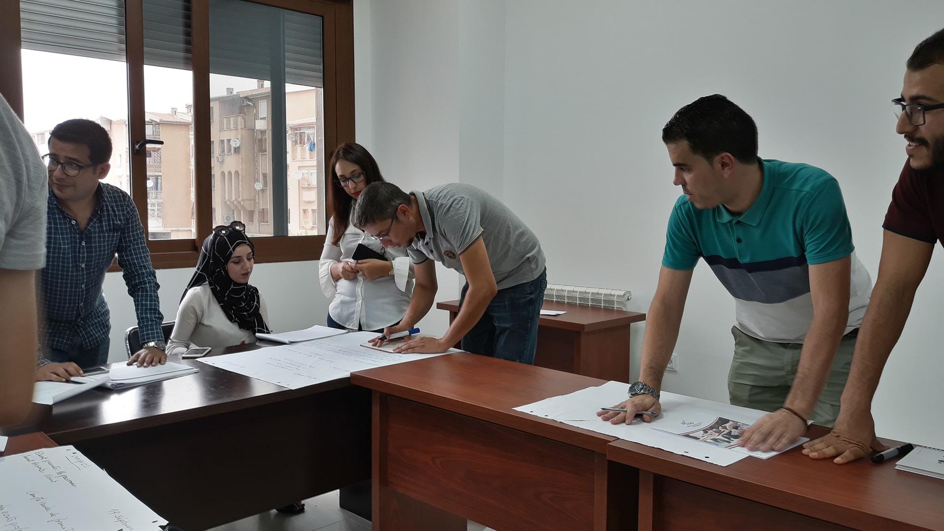 Des étudiants du Phare en plein cours.